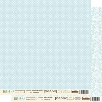 FD1000301 Аквамарин. Лист бумаги для скрапбукинга Fleur design 30*30