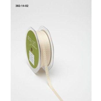 382-14-02 Лента твиловая шеврон кремовая (Champagne), May Arts, 0,6 см