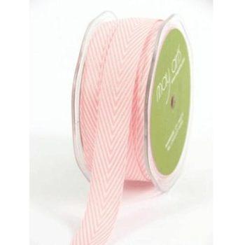 382-34-17 Лента твиловая Шеврон розовая (Pink), May Arts, 1,9 см