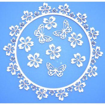 ART1133 Чипборд Рамка с цветами - ПроСвет