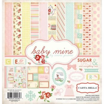 CB-BMG26016 Набор бумаги Baby Mine Girl - Carta Bella 30*30