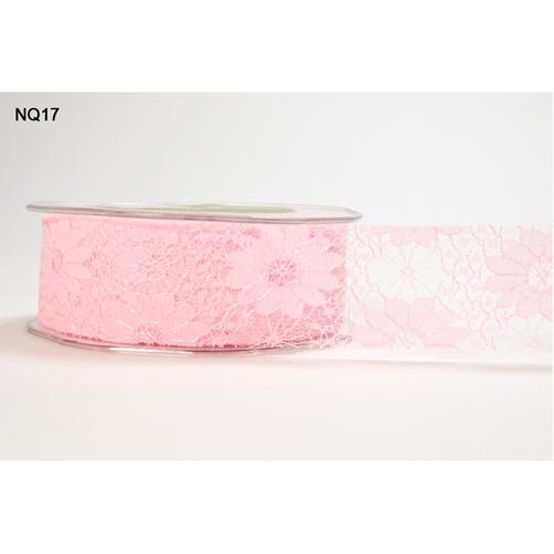 NQ17 Кружево PINK May Arts розовое, 3,6см