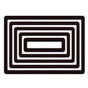 Форма для вырубки Прямоугольники - ScrapBerrys, 5 шт. + магнитный лист