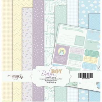 Набор бумаги Baby Boy - Scrapmir 10 листов 30х30см