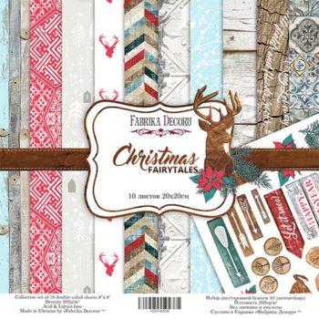 Набор скрапбумаги Christmas fairytales - Фабрика Декору, 20х20см