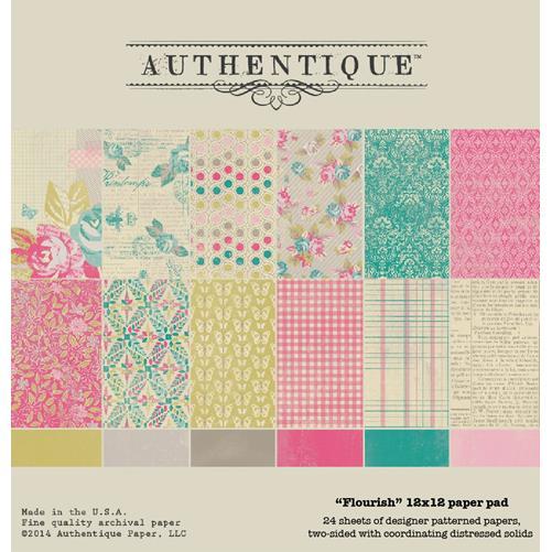 Набор двусторонней бумаги Flourish - Authentique, 24 листа 30*30см