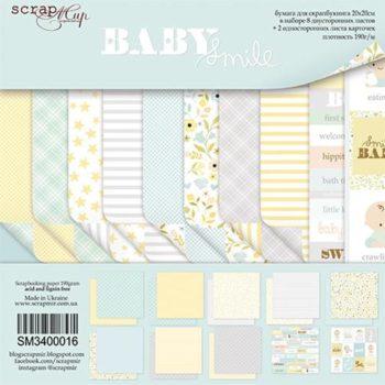SM3400016 Набор бумаги Smile Baby - Scrapmir, 20х20см