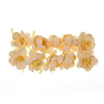 Цветки вишни, кремовый - ScrapBerrys, 10 шт.