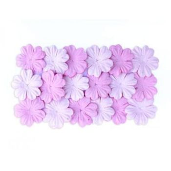 Набор цветочков из шелковичной бумаги, Светло-розовый и розовый - ScrapBerrys