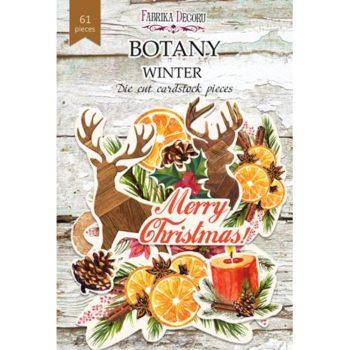 Набор высечек Botany winter - Фабрика Декору, 61шт