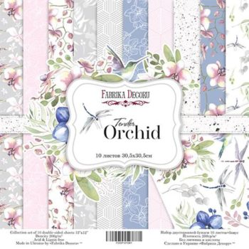 Набор скрапбумаги Tender orchid - Фабрика Декору, 30,5x30,5см