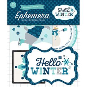 Набор высечек Hello Winter - Echo Park, 33 шт.
