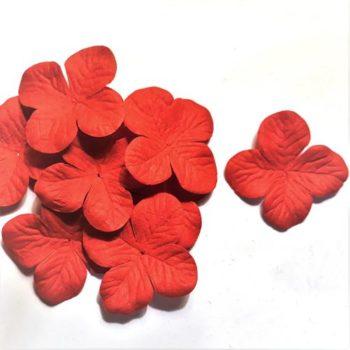 Набор гортензий средние красный, 4 см, 10 шт.