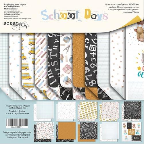 SM4900011 Набор бумаги School Days - Scrapmir, 30х30см