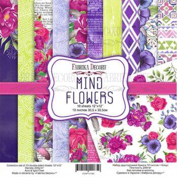 Набор скрапбумаги Mind Flowers — Фабрика Декору, 30,5×30,5см