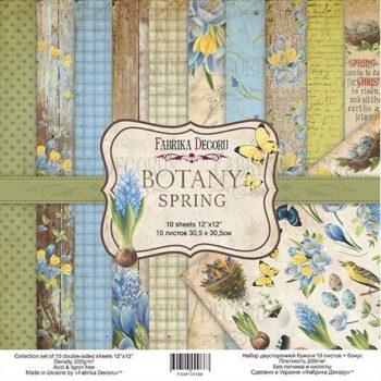 Набор скрапбумаги Botany Spring — Фабрика Декору, 30,5×30,5см