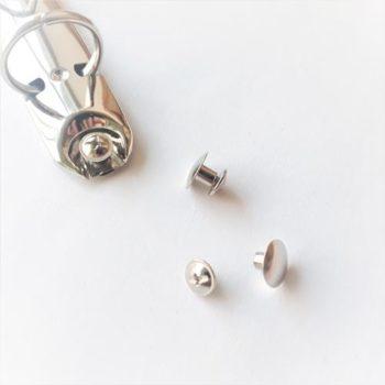 Винт металлический переплетный серебро 4 мм 1шт.