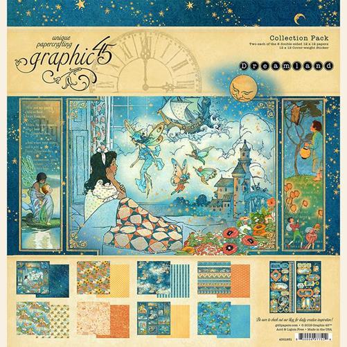 4501931 Полный набор бумаги Dreamland - Graphic 45, 30*30см