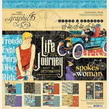 4501946 Полный набор бумаги Lifes a Journey - Graphic 45, 30*30см