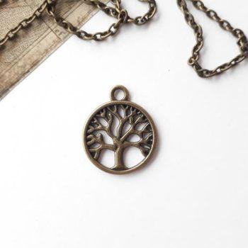 Металлическое украшение Дерево бронза 24*20 мм