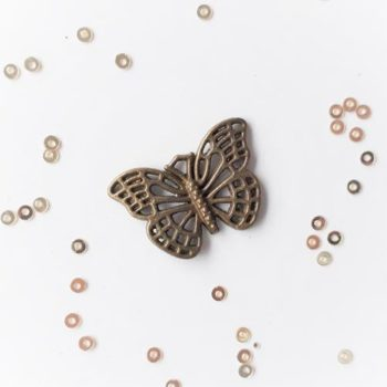 Металлическое украшение Бабочка бронза 26*18 мм