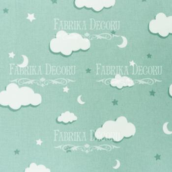 Отрез ткани Мятные облака — Фабрика Декору 35*70 см