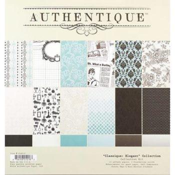 Набор бумаги Classique Elegant - Authentique 30,5*30,5см 24 листа