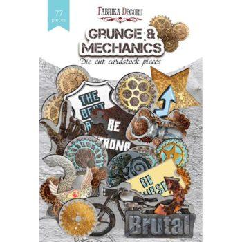Набор высечек Grunge&Mechanics — Фабрика Декору 77шт.