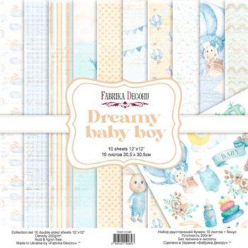 Набор скрапбумаги Dreamy baby boy — Фабрика Декору, 30,5×30,5см