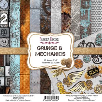 Набор скрапбумаги Grunge&Mechanics — Фабрика Декору, 20×20см