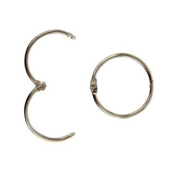 Кольца разъемные для альбомов Серебро 3,5 см 2 шт.