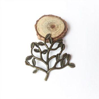 Металлическое украшение Ветка бронза 31*31 мм