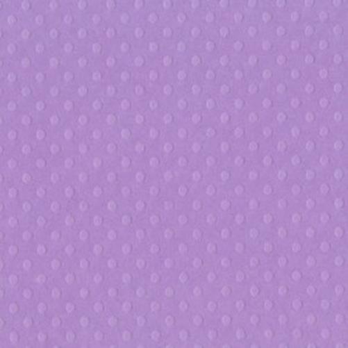 Кардсток Bazzill - DOTTED SWISS - Berry Pretty с тиснением горошком 30,5*30,5 см