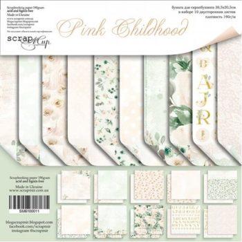 SM6100011 Набор бумаги Pink Childhood - Scrapmir, 30х30см