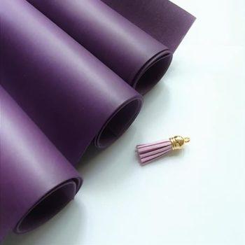 Переплетный кожзаменитель Vivella темно-фиолетовый 35*50 см матовый, Италия