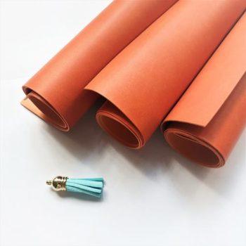 Переплетный кожзаменитель Vivella оранжевый 35*50 матовый