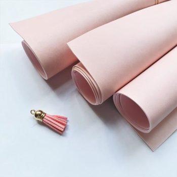Переплетный кожзаменитель Vivella светло-розовый 35*50 см матовый, Италия