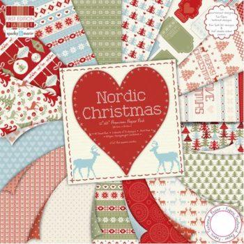 FEXPAD13 Набор бумаги с эффектами Nordic Christmas - Trimcraft 48 листов