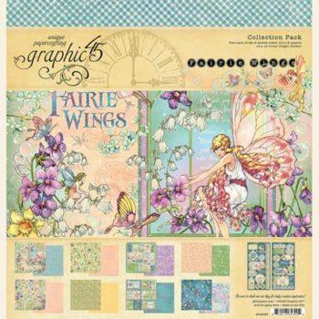 4502083 Полный набор бумаги Fairie Wings - Graphic 45, 30*30см + наклейки