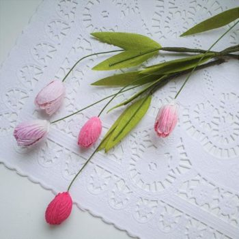 PD901 Тюльпаны из бумаги Оттенки розового 5 штук