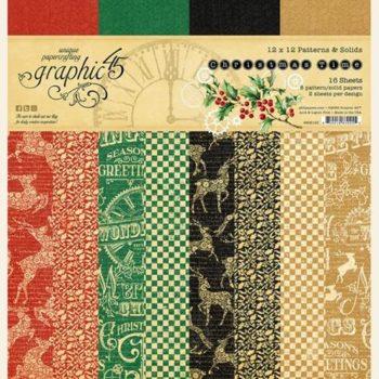 4502120 Набор бумаги Christmas Time — Patterns & Solid — Graphic 45 30*30см