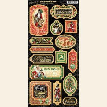 4502121 Чипборд Christmas Time — Chipboard — Graphic 45