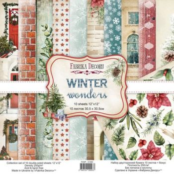 Набор скрапбумаги Winter wonders — Фабрика Декору, 30,5×30,5см