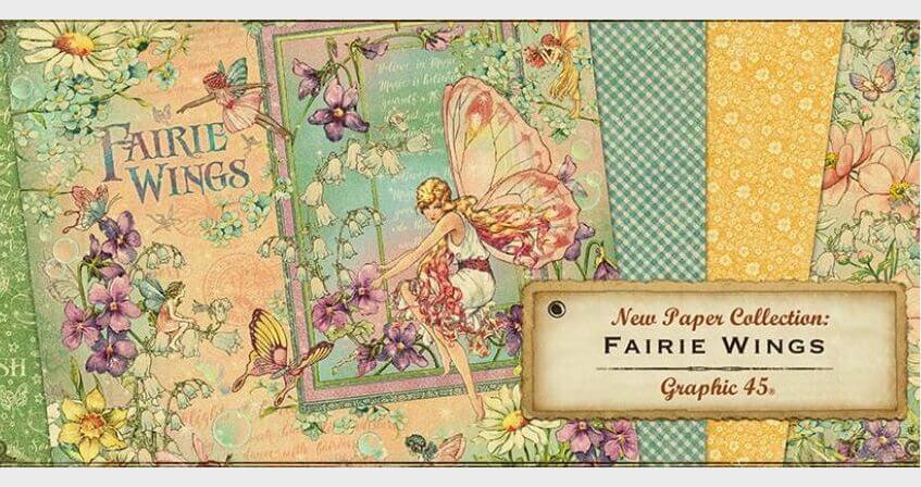 Коллекция бумаги и декора Fairie Wings от Graphic 45