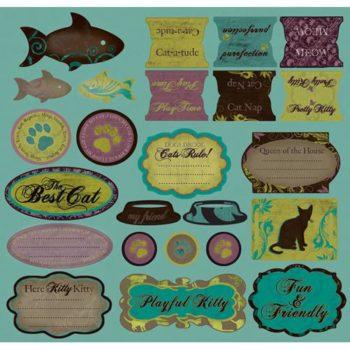 Стикеры из кардстока Purrfect - Cats - Creative Imaginations 30.5*30.5