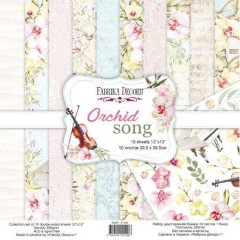 Набор скрапбумаги Orchid song - Фабрика Декору 30,5x30,5см