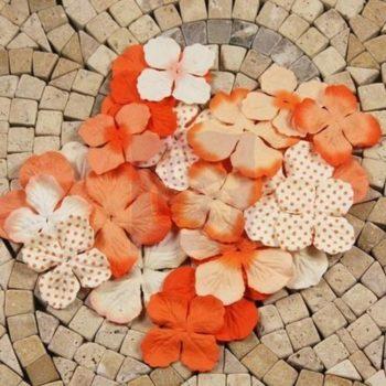 301002 Набор бумажных цветов Orange - Prima, 24 шт.