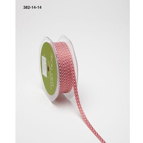 382-14-14 Лента твиловая Шеврон, красная (Red), May Arts