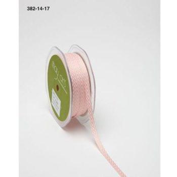 382-14-17 Лента твиловая Шеврон розовая (Pink), May Arts, 0,6 см