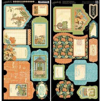 4501115 Ярлычки и конвертики - вырубка из кардстока Artisan Style, Graphic 45